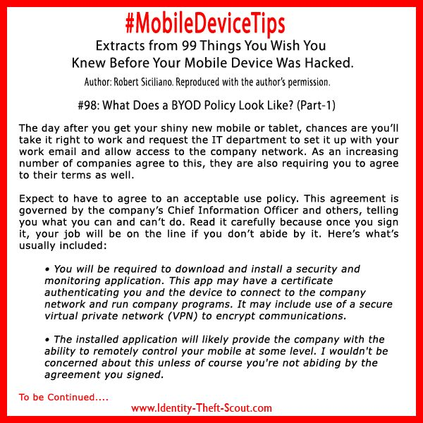 Best Mobile Device Tips Images On   Identity Theft