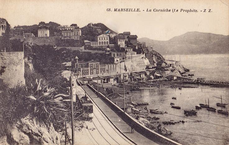 1914 - Tramway sur la Corniche, le Prophète, Marseille