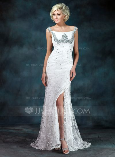 Mother of the Bride Dresses - $182.99 - A-Line/Princess Off-the-Shoulder Sweep Train Chiffon Charmeuse Lace Mother of the Bride Dress With Ruffle Beading Sequins (008006400) http://jjshouse.com/A-Line-Princess-Off-The-Shoulder-Sweep-Train-Chiffon-Charmeuse-Lace-Mother-Of-The-Bride-Dress-With-Ruffle-Beading-Sequins-008006400-g6400