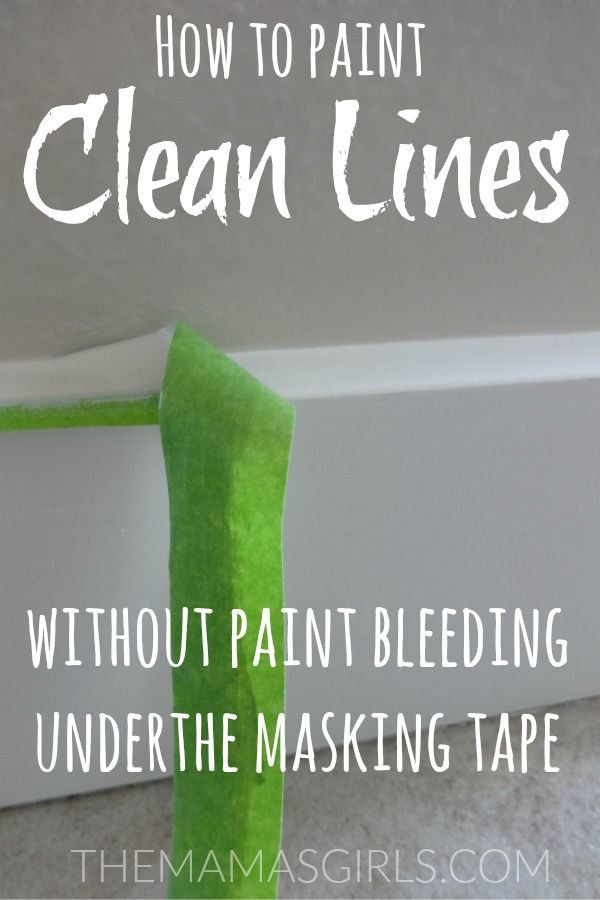 How to Paint Clean Lines without Paint Bleeding Under the Masking Tape - themamasgirls.com