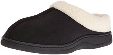 267340358a5 Dearfoams Men s MF Suede Clog Withcuff Slipper Review
