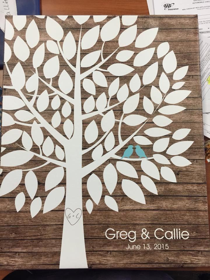 Wedding Tree Canvas | Guest Book Alternative | Customer Photo | Rustic Wedding | Peachwik.com