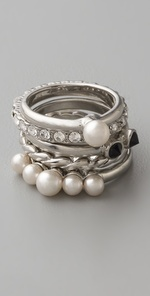 pearl stack rings