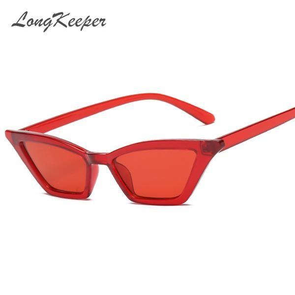 #FASHION #NEW LongKeeper Small Cat Eye Sunglasses Women Vintage Unique Design Rectangle Sun Glasses for Men Fashion Small Frame Retro…