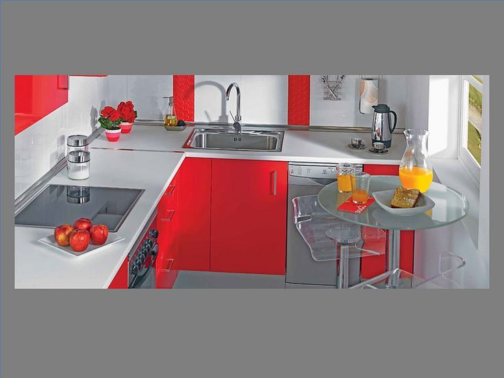 Cocinas En Color Rojo - Ideas De Disenos - Ciboney.net