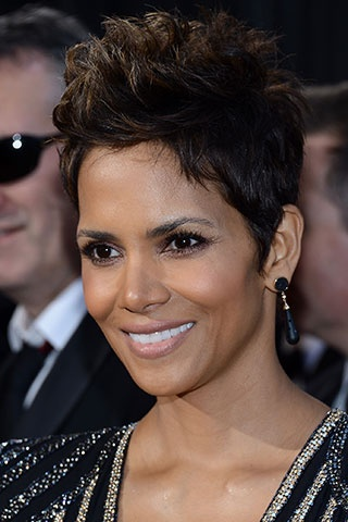 Get Halle Berry's textured faux-hawk