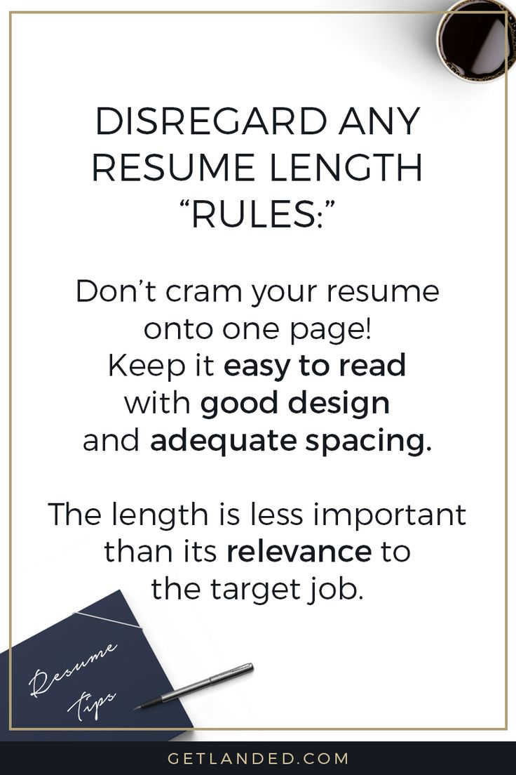 Resume Tips #1: Disregard Any Resume Length Rules! | Resume Writing Tips /