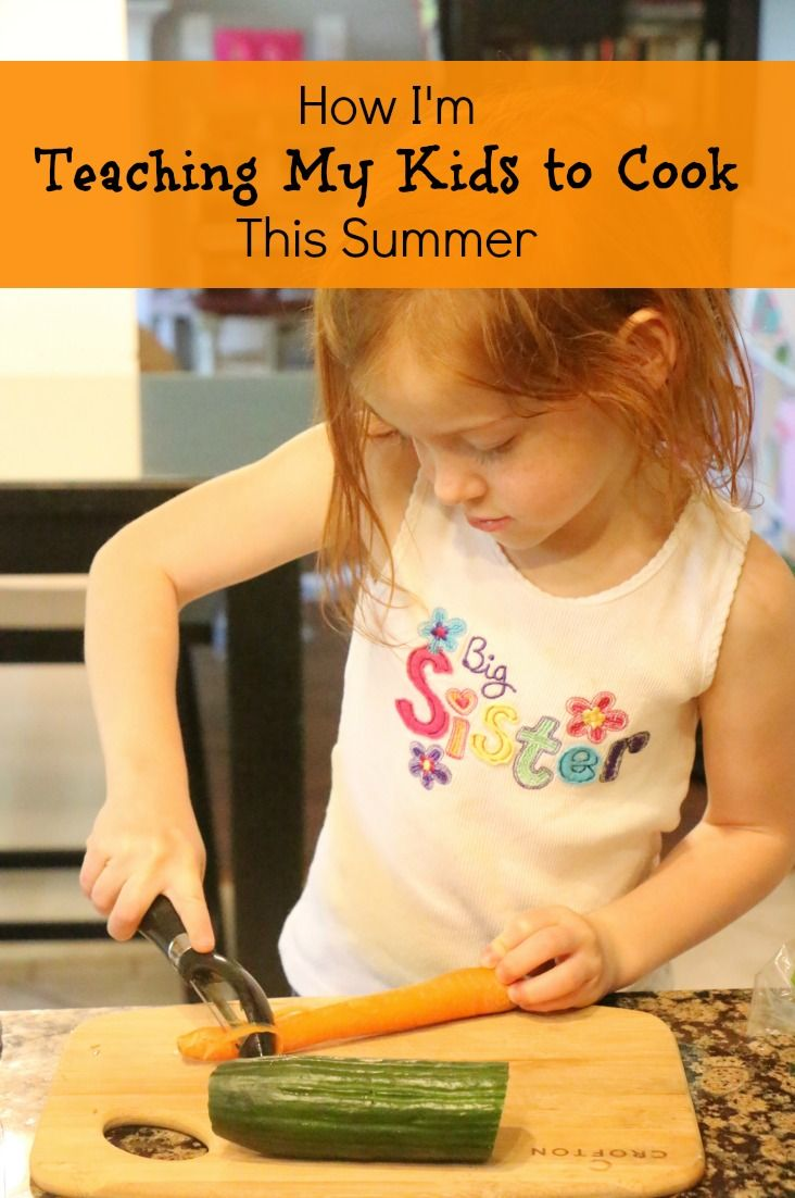 I'm teaching my kids to cook this summer. Here's how!