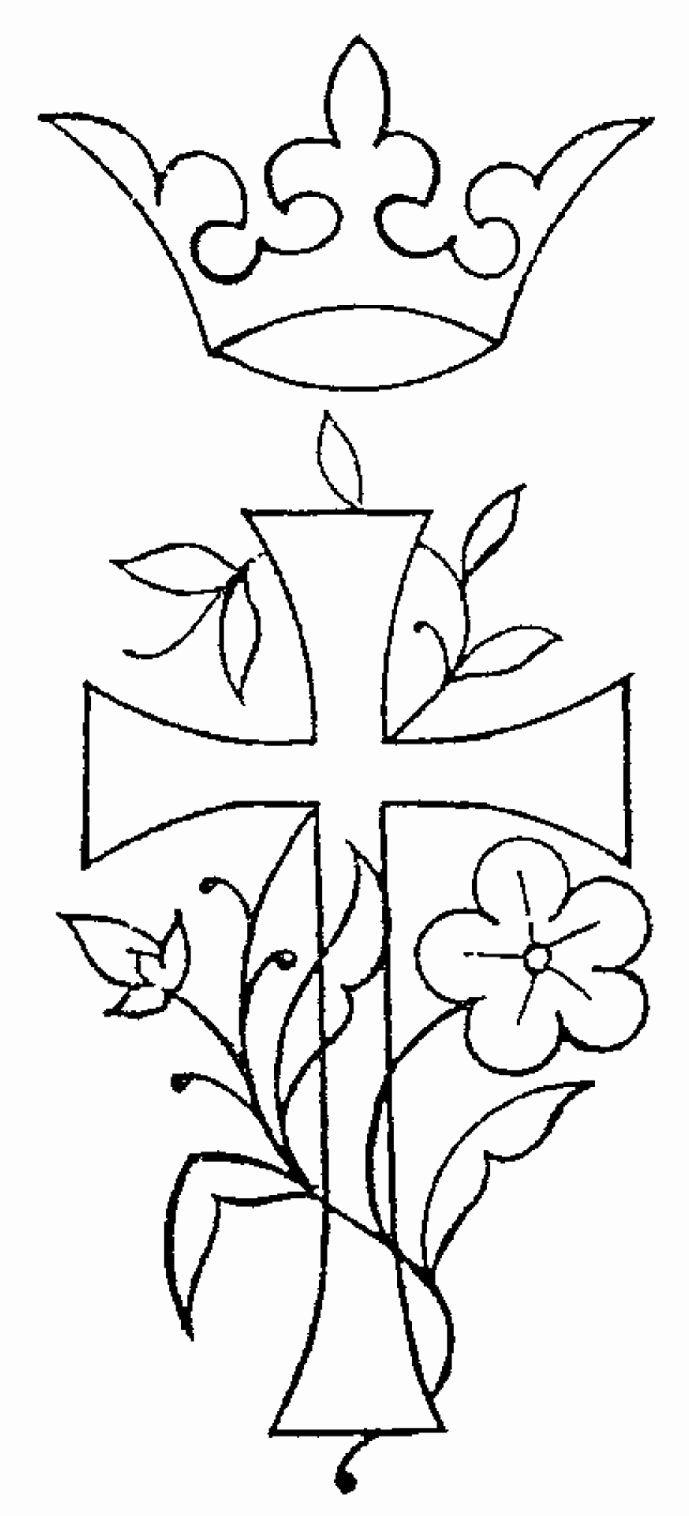 Cross with Flowers Coloring Pages Elegant 14 Best Inkleur ...