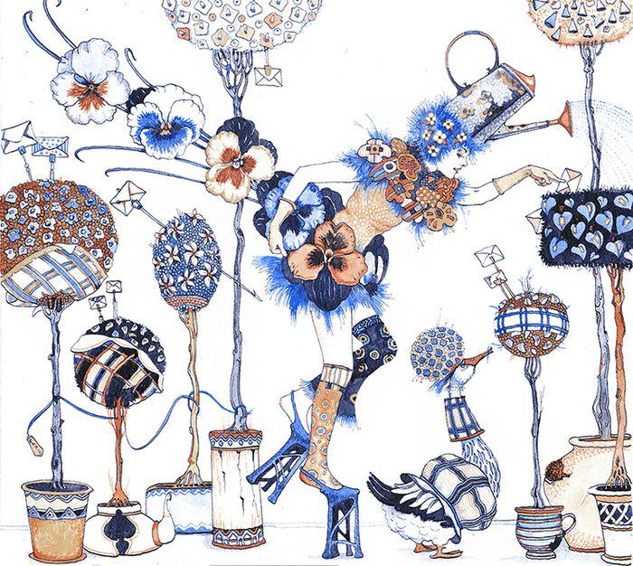 Просмотреть иллюстрацию Лейка(дерево желаний) из серии сбежавшие предметы из сообщества русскоязычных художников автора Фролов Петр в стилях: Графика, нарисованная техниками: Смешанная техника.