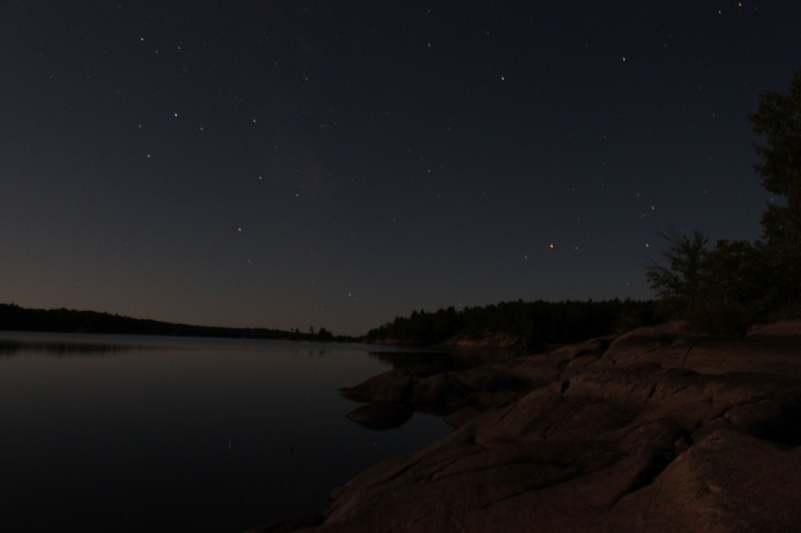 Night time on Georgian Bay, Ontario, Canada