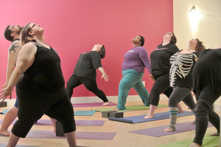 11 Yoga Tips for Plus-Size People?ref=pinp nn Yoga. If the movies are to be believed, it's designed for ridiculously in-shape stay-at-home mom types who visit the yoga studio right before a visit to the organic grocery store. Or it's a relaxing thing you do on vacation. It's for tiny people with amazing flexibility...