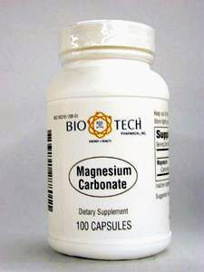 Bio-Tech- Magnesium Carbonate 120 mg 100 caps