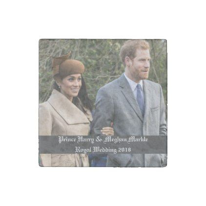 #Prince Harry & Meghan Markle Royal Wedding 2018 Stone Magnet - #WeddingMagnets #Wedding #Magnets Wedding Magnets