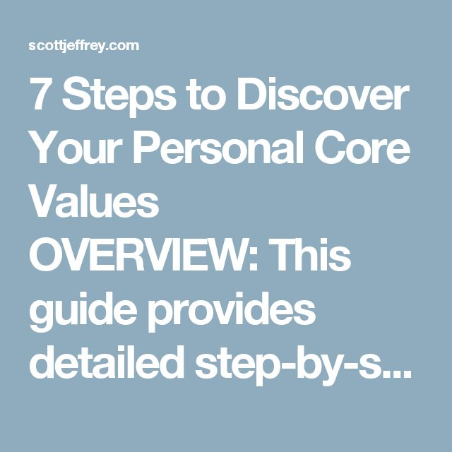 top 5 personal values Understanding your personal values helps you live an authentic, happy life what are your values deciding what's most important in life how would you define your values step 5: prioritize your top values.