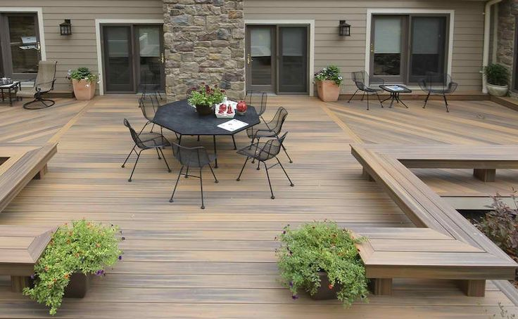 Terrasse en bois 75 id es pour une d co moderne decks for Deco pour terrasse bois
