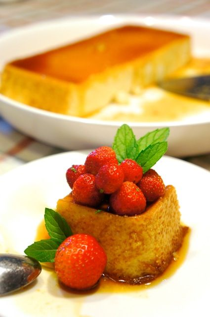 #Flan with #strawberries