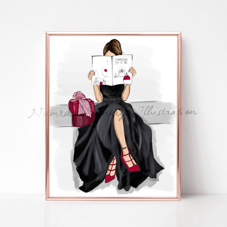 Excited to share the latest addition to my #etsy shop: Waiting for Christmas. Xmas gift (Fashion Illustration art print) #art #drawing #collectibles #artprint #illustration #fashionillustration #fashiongirl #digitalart