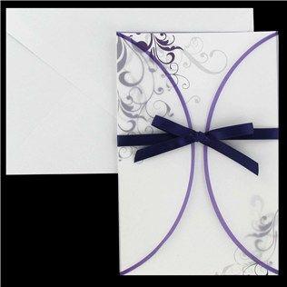 His & Hers Purple Swirl with Vellum Jacket Wedding Invitations | Shop Hobby Lobby (My INvites