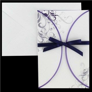 His & Hers Purple Swirl with Vellum Jacket Wedding Invitations | Shop Hobby Lobby (My INvites