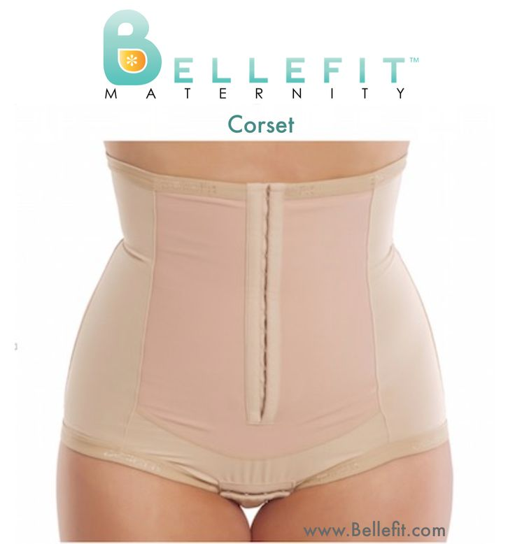 """Recover Your Post Baby Body with Bellefit after C-section or Natural Birth. Women who wear Bellefit after giving birth say that Bellefit helps them feel """"together, aligned and well-supported."""" The Bellefit Corset gives you Medical-Grade Compression during Post Pregnancy recovery after natural or C-section childbirth. The Bellefit Corset has 2 rows of hook-and-eye closures in the front that can be adjusted so you can tighten your girdle when additional compression is needed."""