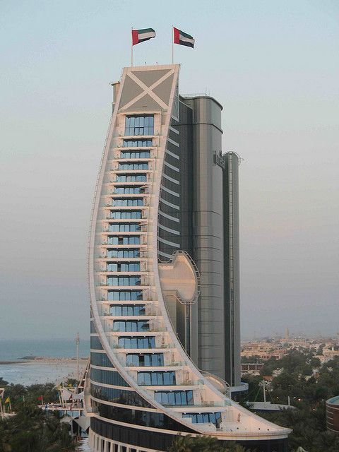 The Jumeirah Beach Hotel in Dubai http://www.palmstar.co.uk/ #architecture                                                                                                                                                     More