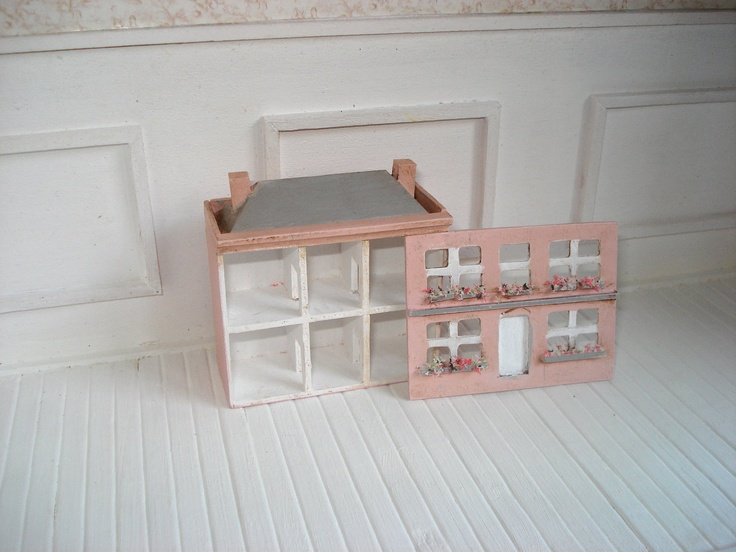 "1:144 scale dollhouse toy ""Rose Cottage"". €18,00, via Etsy."
