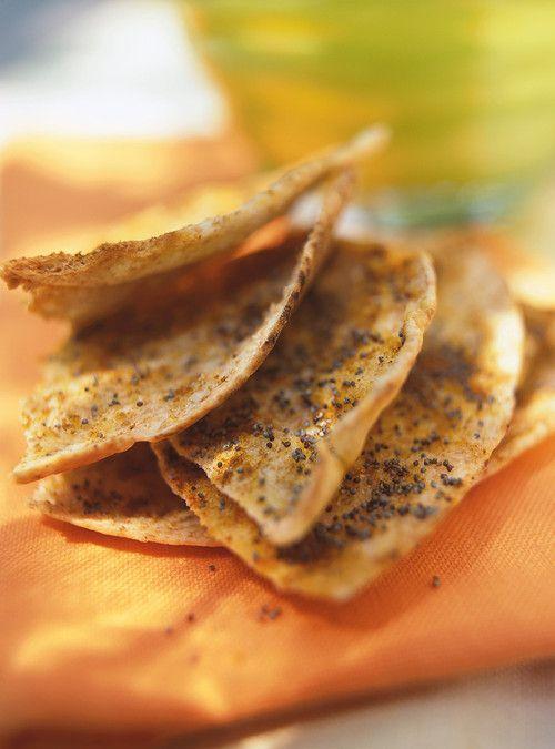 Pitas croustillants aux épices Recettes   Ricardo