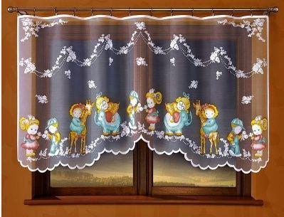 Firanka z bajkowymi motywami idealna do pokoju dziecka.  Firanka gotowa od razu do zawieszenia na karnisz, będzie świetnym prezentem dla twojego dziecka.    Wymiary: wysokość: 120 cm szerokość: 250 cm ( powieszona na prosto bez marszczenia)  Dostępna na stronie: https://kasandra.com.pl/