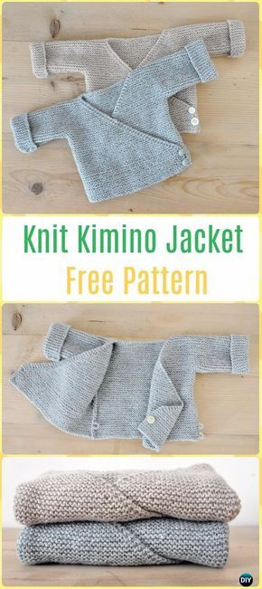 Knit Baby Knit Kimono Jacket Free Pattern - Knit Baby Sweater Outwear Free Patterns