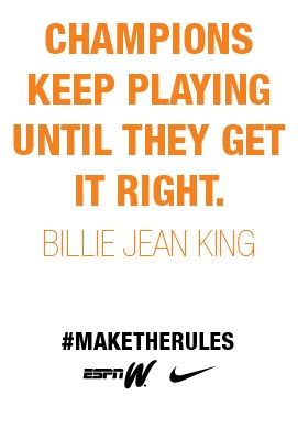 Champions Keep Playing Until They Get It Right... #Champions #GetItRight