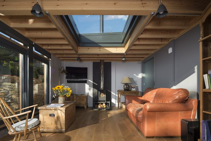 Bath Design and Build, Bespoke Interior Design Exposed Timber Ceiling and Oak Floor