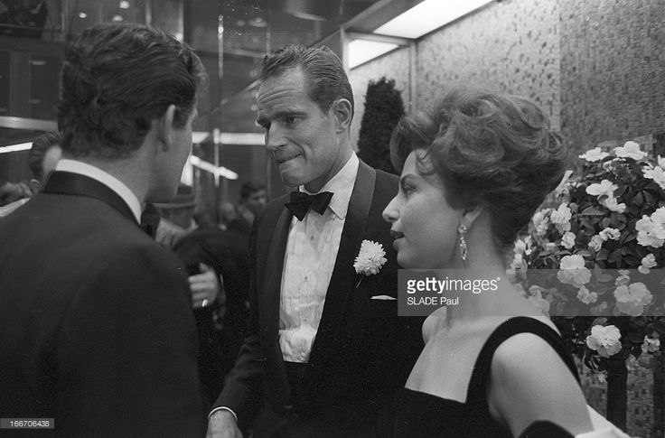 Stephen Boyd with Martha Scott, at the Ben Hur premiere in New York City, 1959 –  source Ben Hur DVD release, extra features Ben Hur cast members Stephen Boyd, Haya Hayareet, and Charlto…