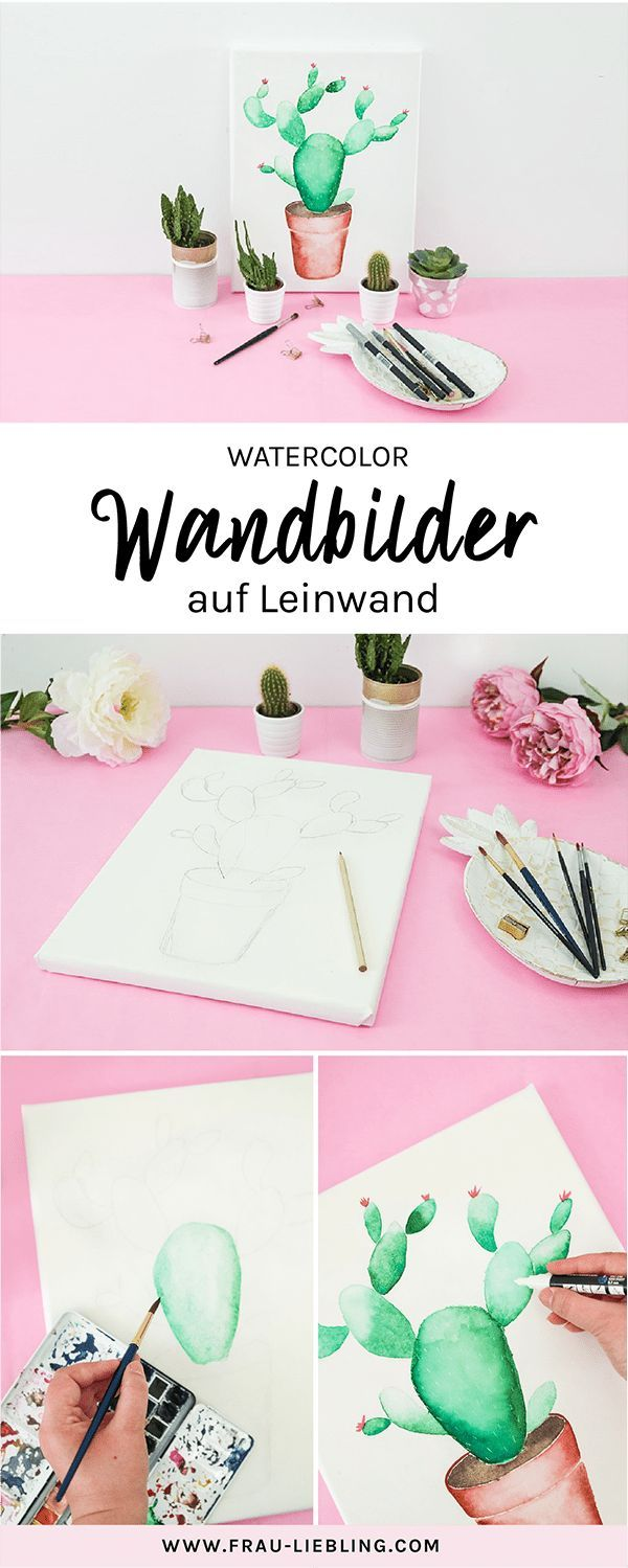 Diy Deko Lettering Und Watercolor Auf Leinwanden Leinwand Malen