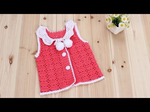 How to Crochet Baby Clothes: Summer Princess cardigan 1/6 - YouTube
