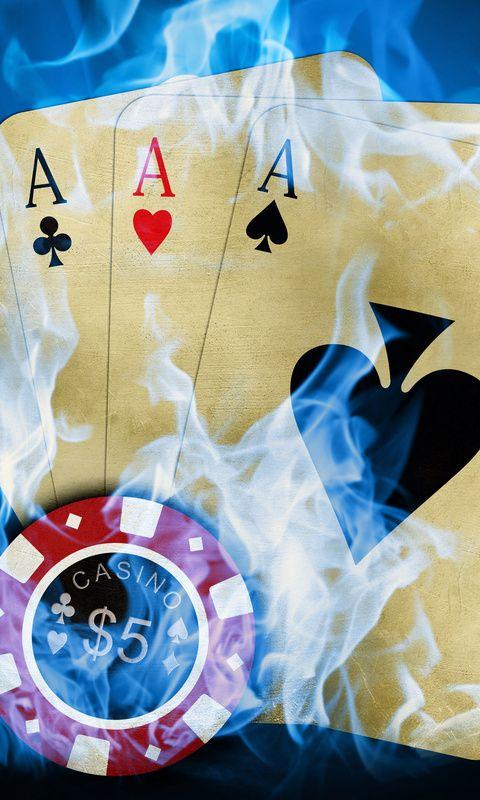 казино, огонь, карты, фишка, Покер