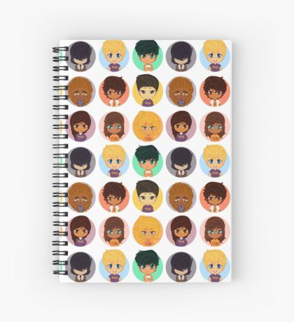 Pastel Heroes of Olympus Chibi Cuaderno de espiral