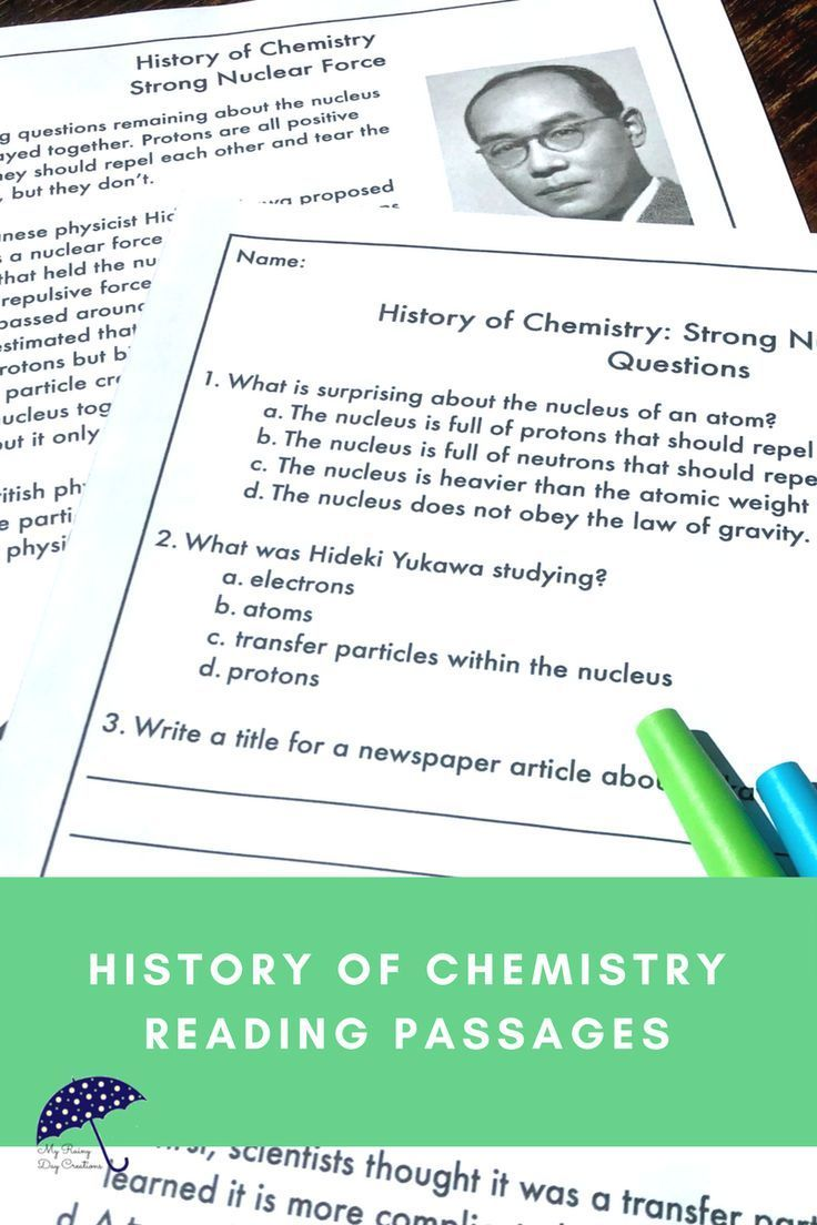 Introduction To Chemistry Strong Nuclear Force Reading Passage