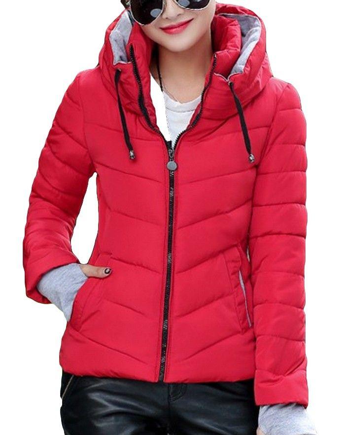 Dámská zimní bunda červená