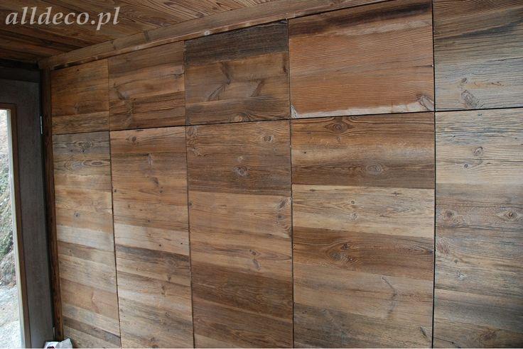 Szafy wnękowe ze starego drewna/ Armoire en vieux bois