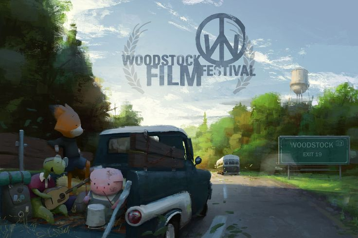 15th Annual Woodstock Film Festival. 'Dam Keeper' painter Cody Gramstad's illustration
