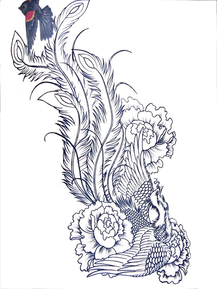 Phoenix+Bird+Drawings | phoenix free tattoos designs for women