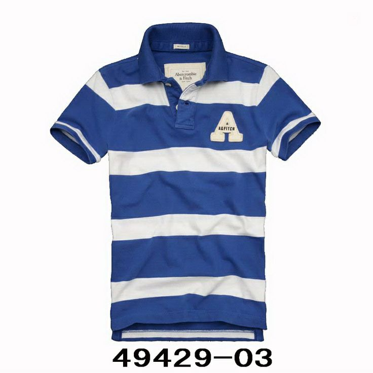 Cheap Abercrombie & Fitch Mens Polo Strip Short T Shirts AFT1076  [Abercrombie 149] -