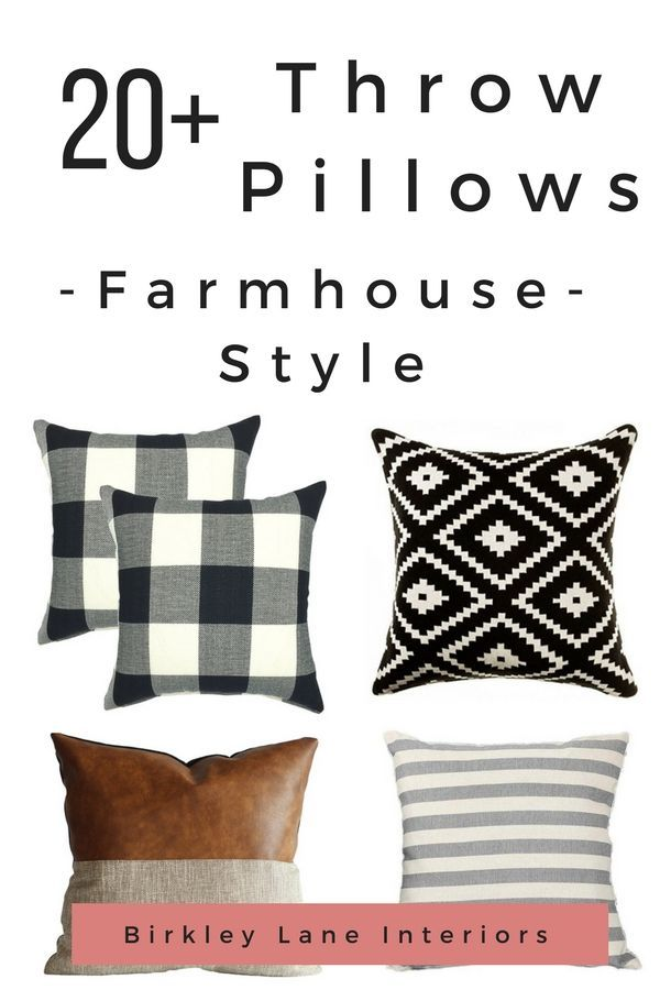 If you love the Fixer Upper style, you are going to love these farmhouse throw pillows and pillow covers!  They are an easy way to add the farmhouse look to your home decor in an affordable way.   via @birkleylane