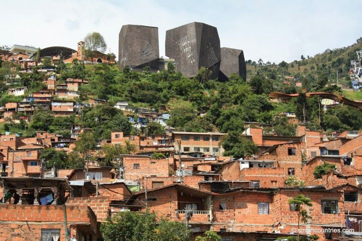 View of Santo Domingo in Medellin, Colombia.