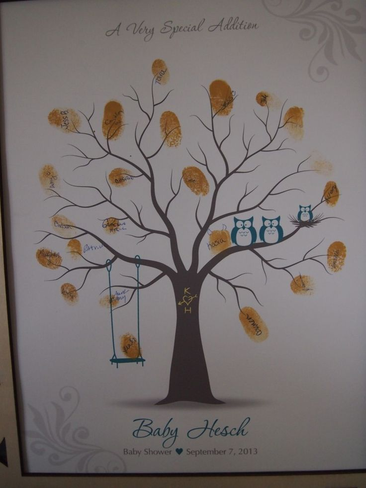 Project Nursery - Thumbprint Tree Guest Book