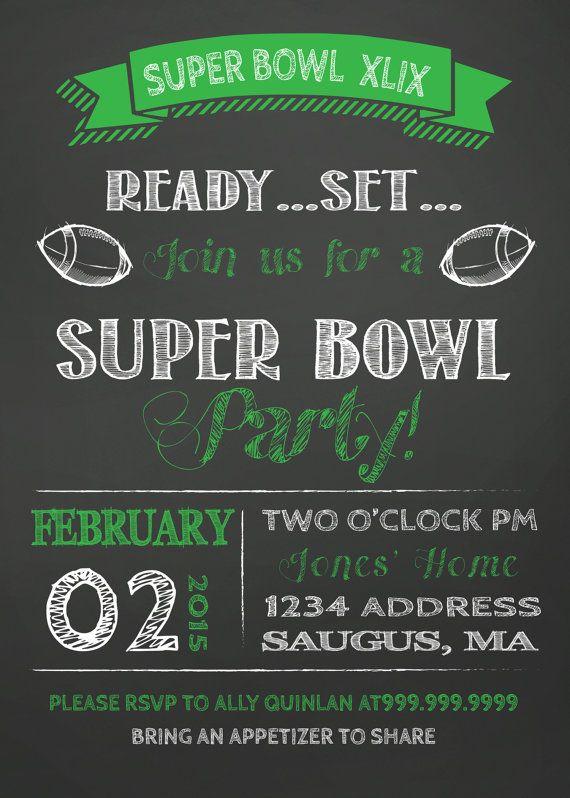 14 best Super Bowl Invitation images on Pinterest Super bowl party