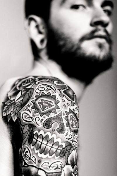 Nice placement for a skull #tattoo