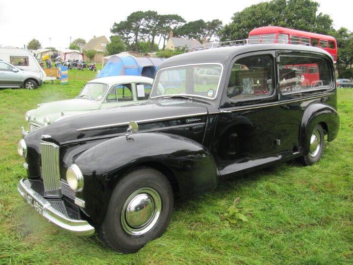 Humber Pullman hearse at Harmans Cross classic car show
