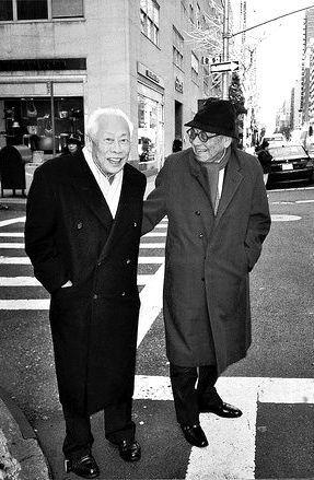 2005 趙無極,貝聿銘。紐約 Zhao Wu Ji and I.M Pei ,New York 2005